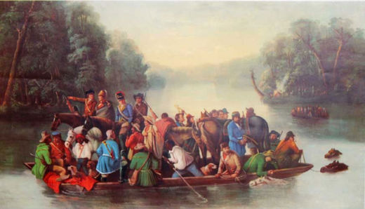 Gen. Francis Marion Crossing the Pedee River