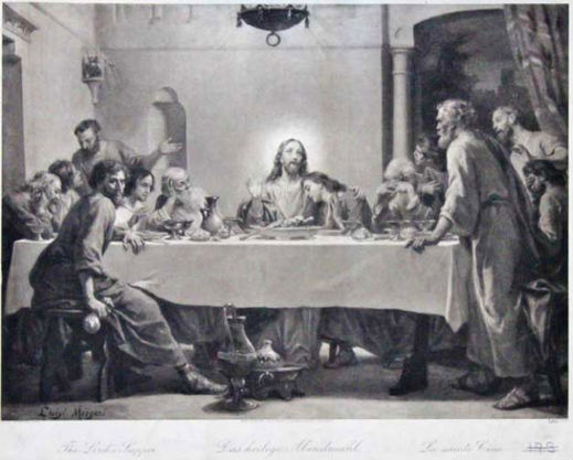 The Last Supper - Luigi Morgari  (Italian, 1857)
