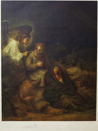 Joseph's Dream  - print - Rembrandt (Dutch, 1606 - 1669)