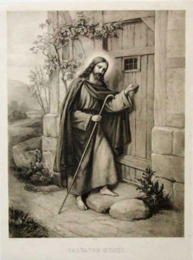 Christ Knocking at the Door - e.h.b circa 1900