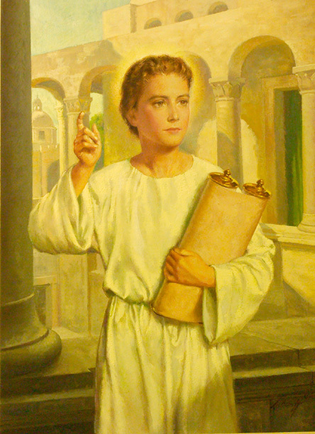 Boy Christ in the Temple by Wm. Luberoff