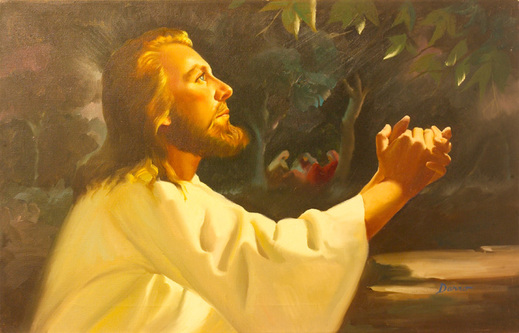 Christ in Gethsemane - Oil by Peter Darro