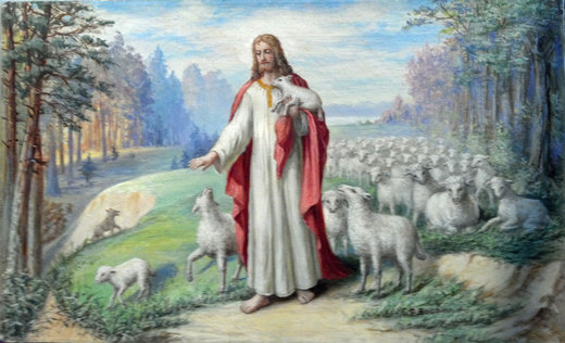The Good Shepherd - Oil by F.R. Bogdan