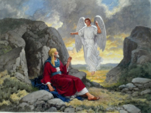 Elijah & the Angel - Watercolor by R.g. Jones