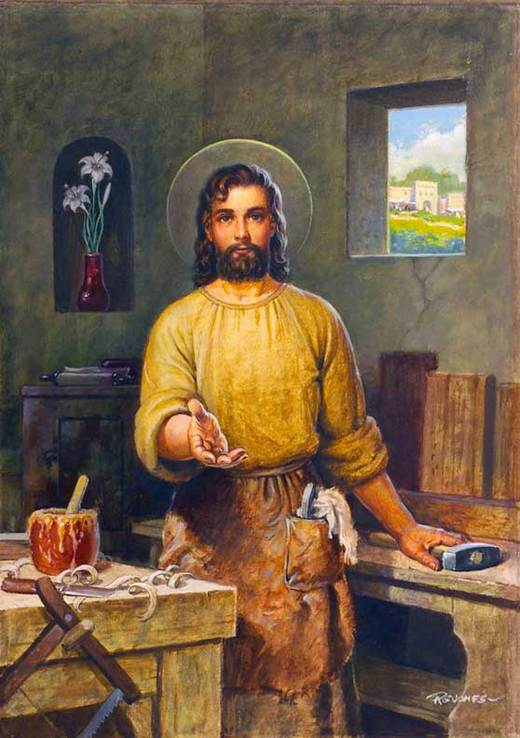 St. Joseph in the Workshop by R.G. Jones