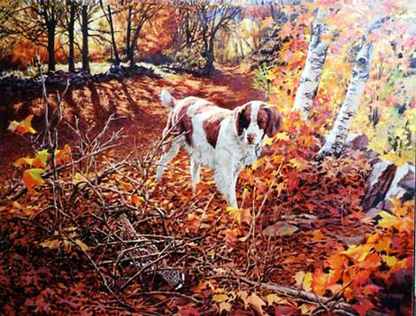 Freeze Before Flight - Brittany Spaniel by Tom Beecham