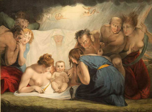 The Infant Shakespeare Attended by Nature and the Passions.