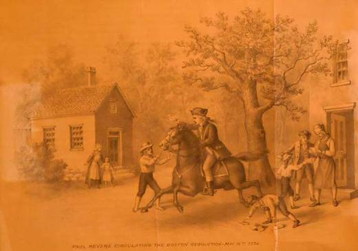 Paul Revere Circulating the Boston Resolution