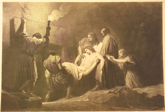 Christ Carried to the Tomb - Charles Francois Jalabert (FR 1819-1901)