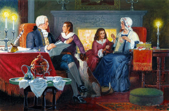 George Washington and his Family by HG Jones