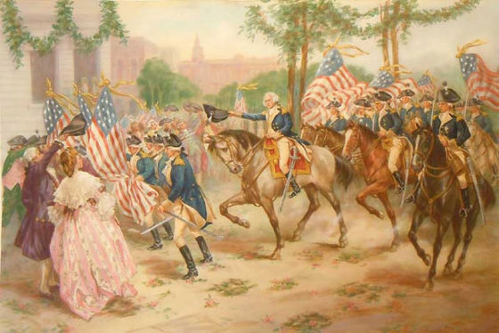 George Washington's Triumphant entry into Philadelphia