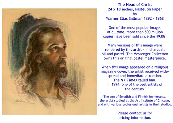 The Head of Christ by W.E. Sallman - for sale