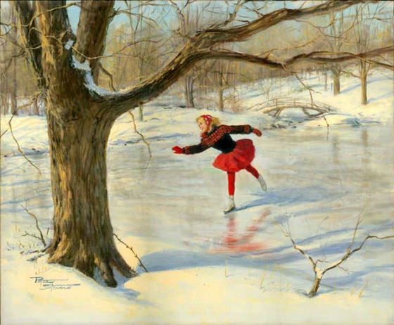 Ice Skater by Peter Stevens (1920 - 2001)