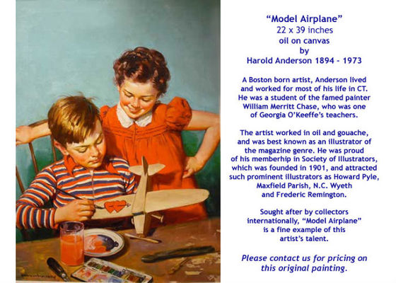 Model Airplane by Harold Anderson - for sale