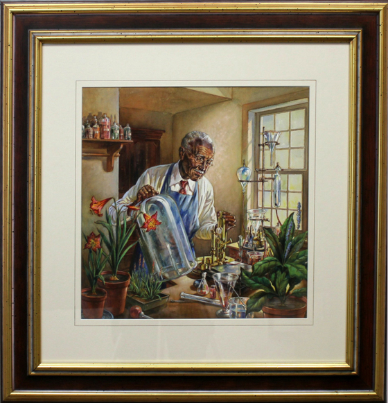 George Washington Carver in his Laboratory by A.B. Winkler