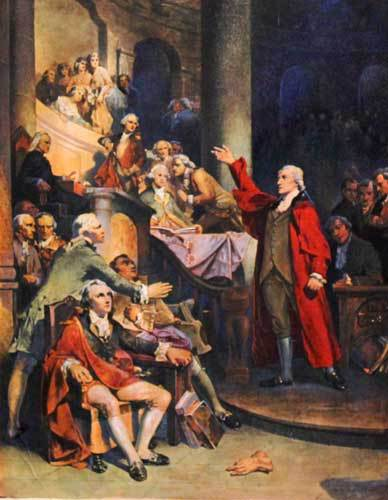 Patrick Henry Addressing the House of Burgess